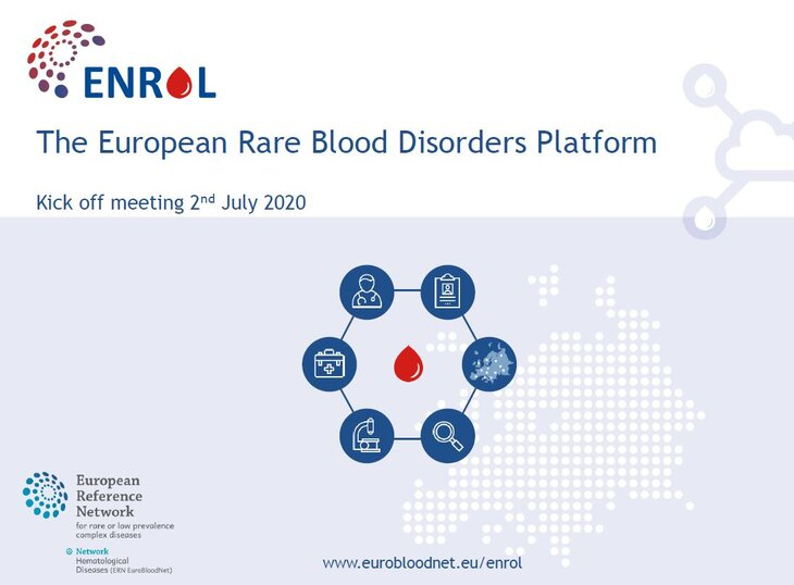 European Rare Blood Disorders Platform (ENROL) online Kick off meeting was successfully held last 2nd July with more 120 registered participants, thanks to all!