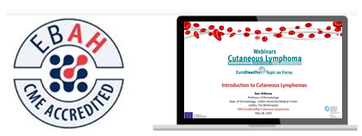 "After the summer break the webinars ""EuroBloodNet's Topic on focus: Cutaneous Lymphoma"" start again!"