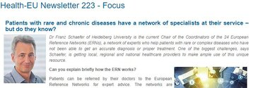 Dr. Franz Schaefer, Chair of the Coordinators of the 24 ERNs, has answered key questions on present and future of ERNs