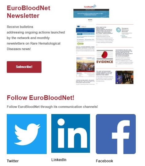 Keep updated on ERN-EuroBloodNet actions through its communication channels!