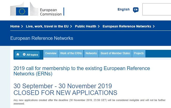 The Call for new members joining European Reference Networks has closed with 40 applications for EuroBloodNet