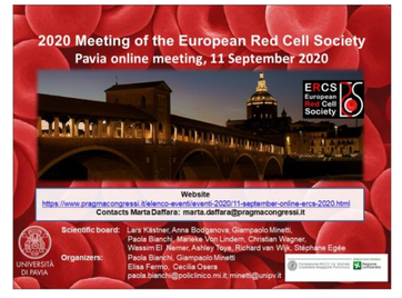 "Attend the next online meeting of the European Red Cell Society: ""The Horizons in Red Cell Research"" !"