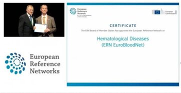 EuroBloodNet, the European Reference Network on Rare Hematological Diseases, awarded by the EC as one of the approved ERNs