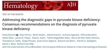 """Addressing the diagnostic gaps in pyruvate kinase deficiency: Consensus recommendations on the diagnosis of pyruvate kinase deficiency"" Published under the endorsement of ERN-EuroBloodNet"